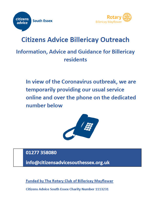 Information, Advice and Guidance for Billericay residents